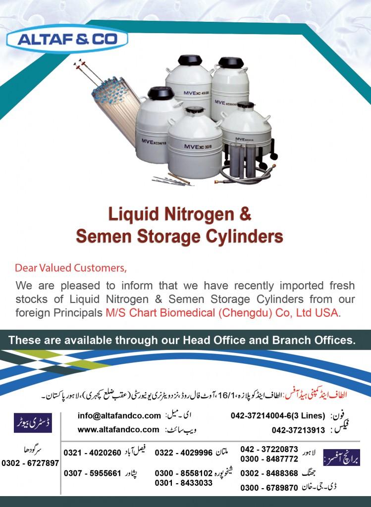 Liquid Nitrogen & Semen Storage Cylinders