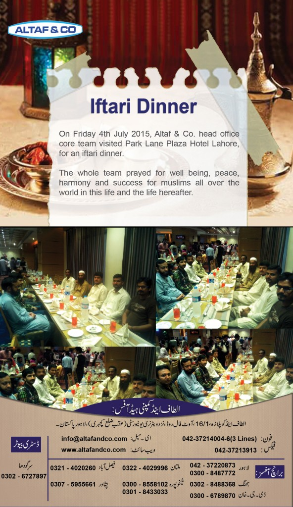 Iftari Dinner